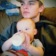 Bain and Jacob. He's a great big brother.