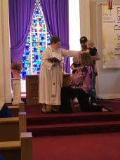 The babies and I getting baptized.