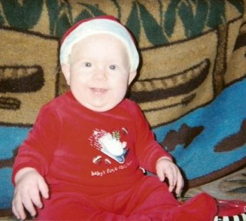 Christian was a chunky baby!